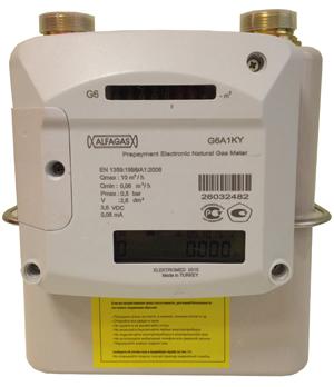 Предоплатный счетчик газа со смарт-картой ALFAGAS G4A1KY