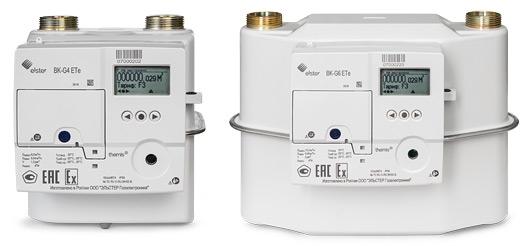 Счетчик газа BK – G6 ETe с модулем GPRS