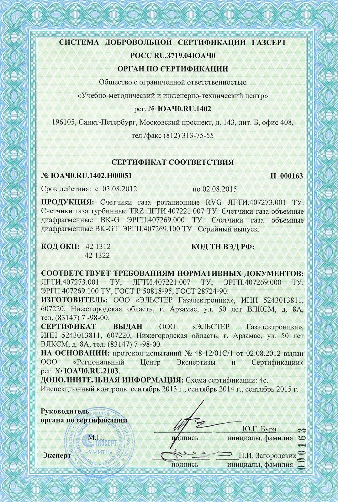 rvg счетчик паспорт