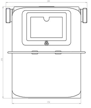 Размеры счетчика газа СГБ G4
